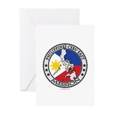 Philippines Cebu East LDS Mission Flag Greeting Ca