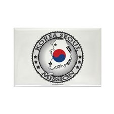 Korea Seoul LDS Mission Flag Cutout Map Magnets