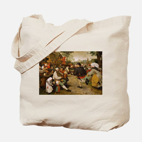 The Peasant Dance by Pieter Bruegal the E Tote Bag