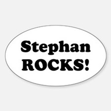 Stephan Rocks! Oval Decal