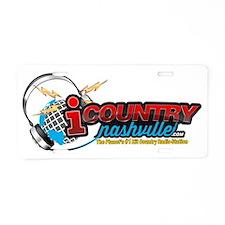iCountryNashvilleLogo Aluminum License Plate