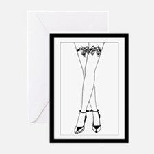 Stockings Bows & Cuffs Greeting Cards (Pk of 10)
