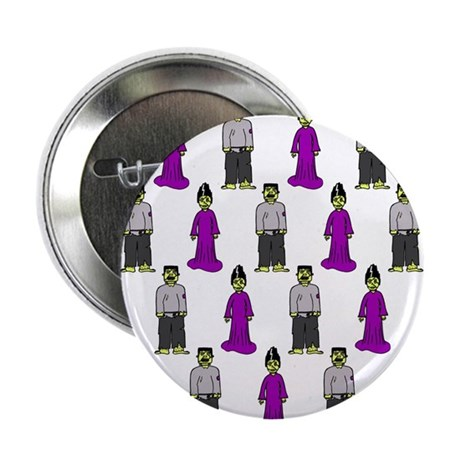 """'Frankenstein Couple' 2.25"""" Button (10 pack)"""