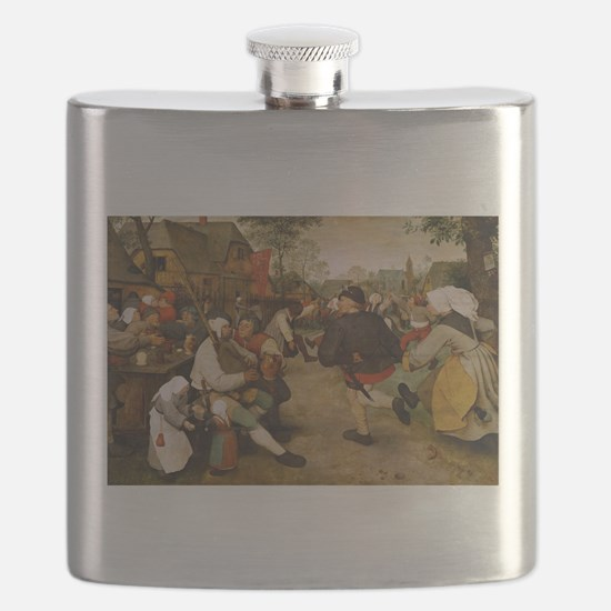 The Peasant Dance by Pieter Bruegal the Elde Flask