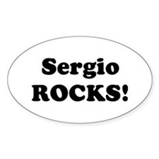 Sergio Rocks! Oval Decal