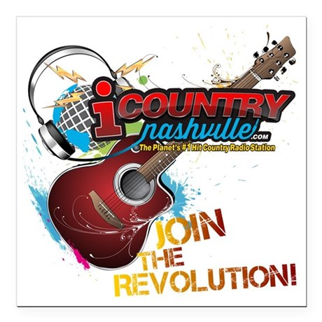 """Join the Revolution Square Car Magnet 3"""" x 3"""""""