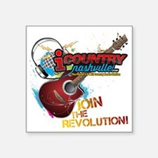 "Join the Revolution Square Sticker 3"" x 3"""