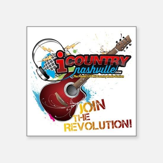 "Join the Revolution Square Sticker 3"" x 3"""