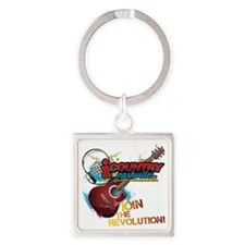 Join the Revolution Square Keychain