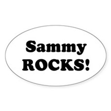 Sammy Rocks! Oval Decal
