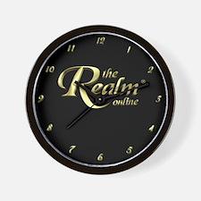 Realm Logo Wall Clock