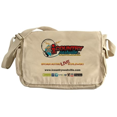 iCountryNashville.com Listen Live! Messenger Bag