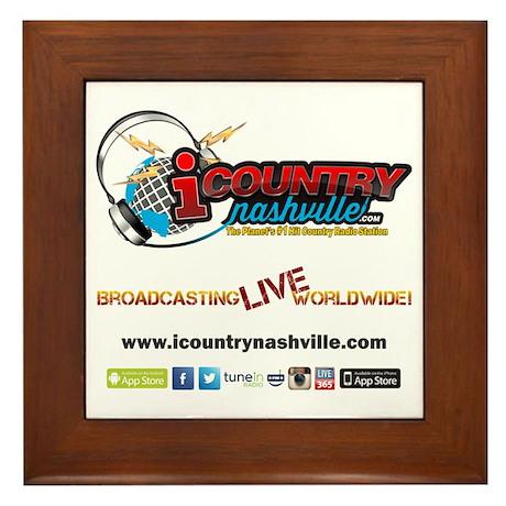 iCountryNashville.com Listen Live! Framed Tile
