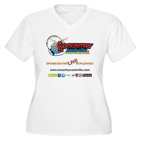 iCountryNashville Women's Plus Size V-Neck T-Shirt