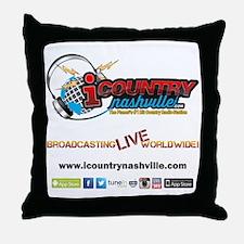iCountryNashville.com Listen Live! Throw Pillow