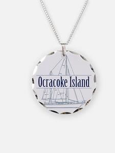 Ocracoke Island - Necklace Circle Charm