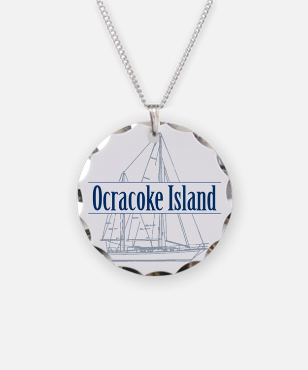 Ocracoke Island - Necklace Circle Charm