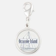 Ocracoke Island - Silver Round Charm