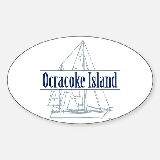 Ocracoke Island - Sticker (Oval)