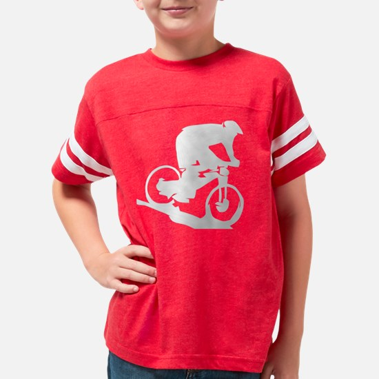 Mountain Biker Youth Football Shirt
