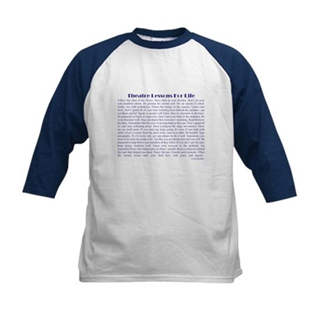 Theatre Lessons for Life Kids Baseball Jersey
