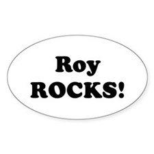 Roy Rocks! Oval Decal