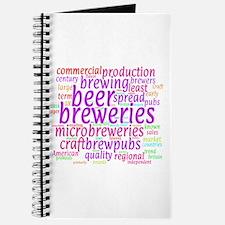 Craft Beer Concept Cloud Journal