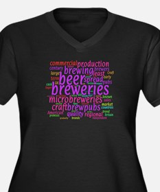 Craft Beer Concept Cloud Plus Size T-Shirt