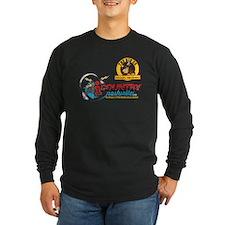 Big Ox Distressed Retro Long Sleeve T-Shirt