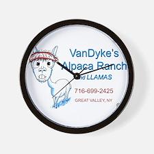 VanDykes Alpaca Ranch 1 Wall Clock