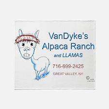 VanDykes Alpaca Ranch 1 Throw Blanket