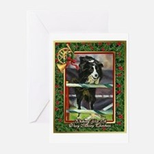 Border Collie Agility Christmas Greeting Cards