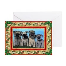 Brussels Griffon Dog Christmas Greeting Cards