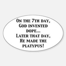 On the 7th Day... Oval Decal