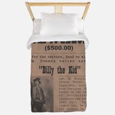 Billy the Kid Wanted Poster by McMinnie Twin Duvet