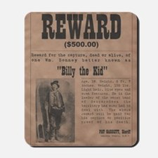 Billy the Kid Wanted Poster by McMinnie Mousepad