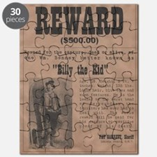 Billy the Kid Wanted Poster by McMinnie Puzzle