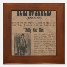 Billy the Kid Wanted Poster by McMinni Framed Tile