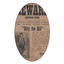 Billy the Kid Wanted Poster by McMi Decal