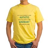 Autism Mens Yellow T-shirts