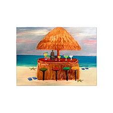 Beach Tiki Bar Rug 5'x7'area Rug