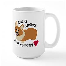 Corgi Smiles Melt My Heart Mugs