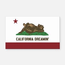 California Dreamin Rectangle Car Magnet