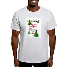 kuvasz Christmas Ash Grey T-Shirt