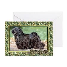 Hungarian Puli Dog Christmas Greeting Cards