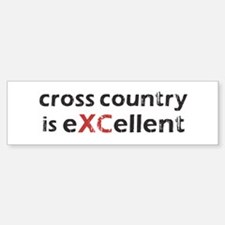 Cross Country eXCellent Bumper Bumper Sticker