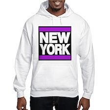 new york purple Hoodie