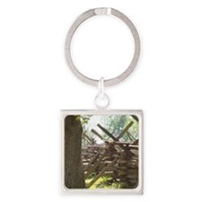 COLONIAL FENCE NO NAILS Square Keychain