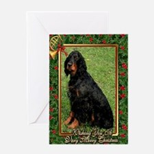 Gordon Setter Dog Christmas Greeting Cards