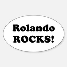 Rolando Rocks! Oval Decal